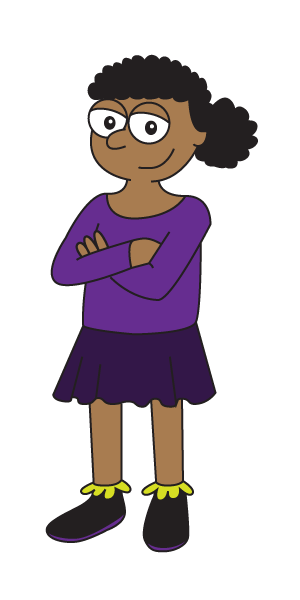 Girl with arms folded